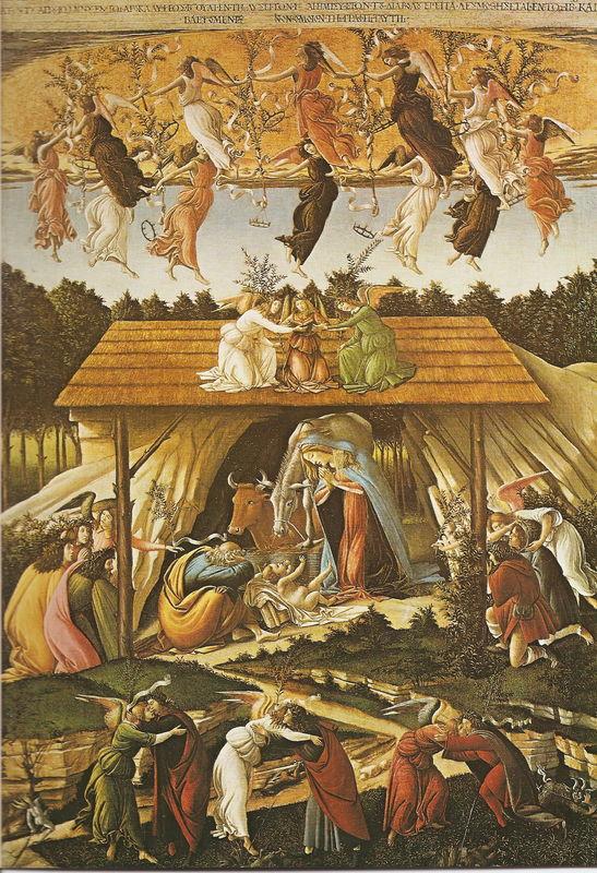 BOTTICELLI - Nativité Mystique - LONDRES