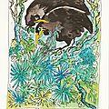 Oiseaux noirs-dessin et haïku n°193