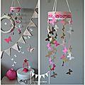 décoration chambre bébé rose poudré chocolat fuchsia