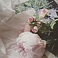Vive l'été... pivoines, petites roses de délicats pots pourris