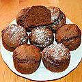 Muffins chocolat banane (sans mg ajoutée)
