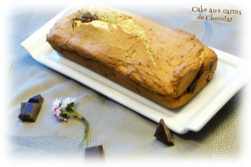 """ღ """" Miam """" Cake au carrés de Chocolat"""