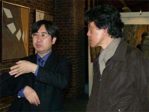 Mr MASUDA - Attaché culturel et Mr YAMADA - Artiste Peintre
