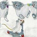 dessin au <b>crayon</b> :chatons & souris