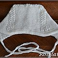 Un bonnet blanc (presque) royal au tricot