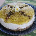 Cheese cake printannier, vert aux kiwis et pistaches