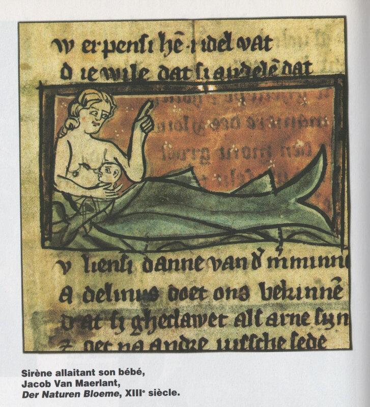 Der naturen bloeme - sirène avec son enfant - 13ème siècle