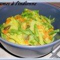 Legumes à l'indienne sauce au yaourt