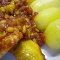 Poulet sauté à la tomate, vanille et citronnelle
