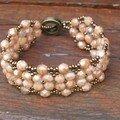 Bracelet Beige opal