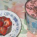 Smoothie aux fraises.