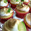 Mini <b>cupcake</b> <b>citron</b> vert meringué