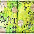 Art journal = art therapy!