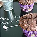 Muffins double chocolat - muffins doble chocolate