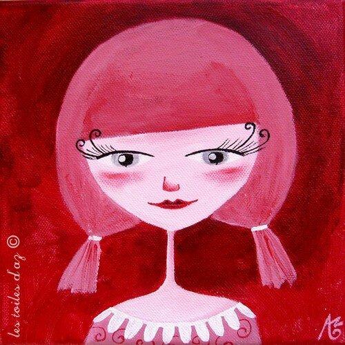 Mademoiselle Rose 20x20