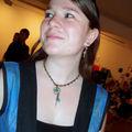 Linry et son collier Blue Heart