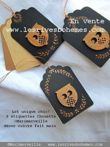 Marimerveille étiquettes Au bois chic chouette