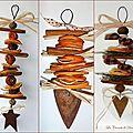 Décos orange-cannelle-laurier- métal rouillé