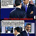 L'humour de b. obama : l'arme fatale face à n. sarkozy...