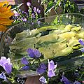Légumes : courgettes en gratin léger (crème et lait)
