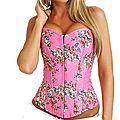 Le <b>corset</b> vintage <b>rose</b> à fleurs