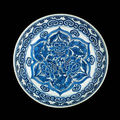 A blue and white saucer dish. shunzhi, circa 1660