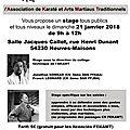 STAGES : Neuves-Maisons, 21 janvier 2018, Stage de self-défense sous la direction de J. <b>KONRAD</b>, F. LÉONARD (FEKAMT)