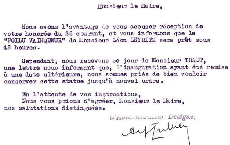1927 10 29 Durenne Poilu dispo Report ddé par Traut R