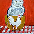 CHATS A L'ACRYLIQUE - http://lodya.artgallery.free.fr