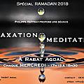 Méditation - relaxation en ramadan , à rabat agdal