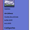 Une image de fond pour les titres du menu