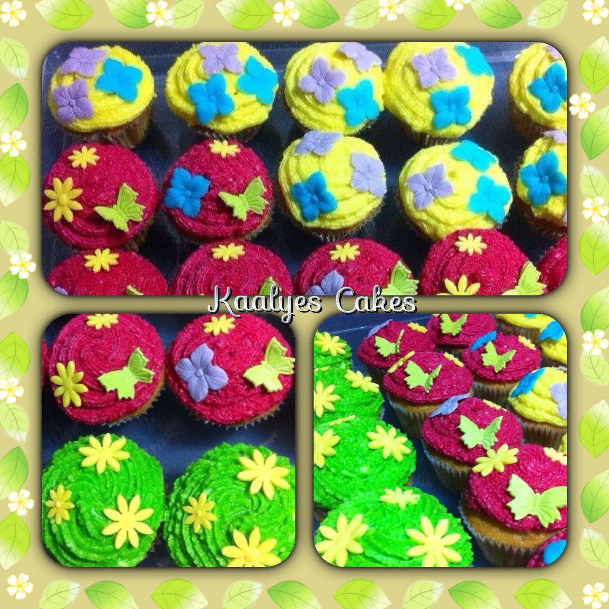 Cupcakes fleurs & papillons