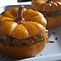 Courges farcies au quinoa et lardons -by claire-