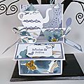 Atelier carte Pop Up avec le set de tampons <b>Petite</b> <b>tasse</b> et les Poinçons Framelits L'heure du thé