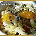 Salade d'endives et d'oranges au miel