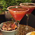 Cocktail abricot/orchidée