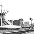 Musée et cathédrale à Brasilia