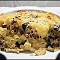Gratin de pâtes, chanterelles et raclette 1
