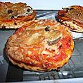 Mini pizza feuilletée