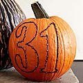 Diy d'halloween : les citrouilles qui ne fichent pas la trouille (chiffres, lettres, lune et étoiles)