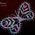 Christiane: papillon dentelle N°2