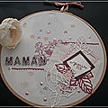 Fête des mères - tambour à broder décoré