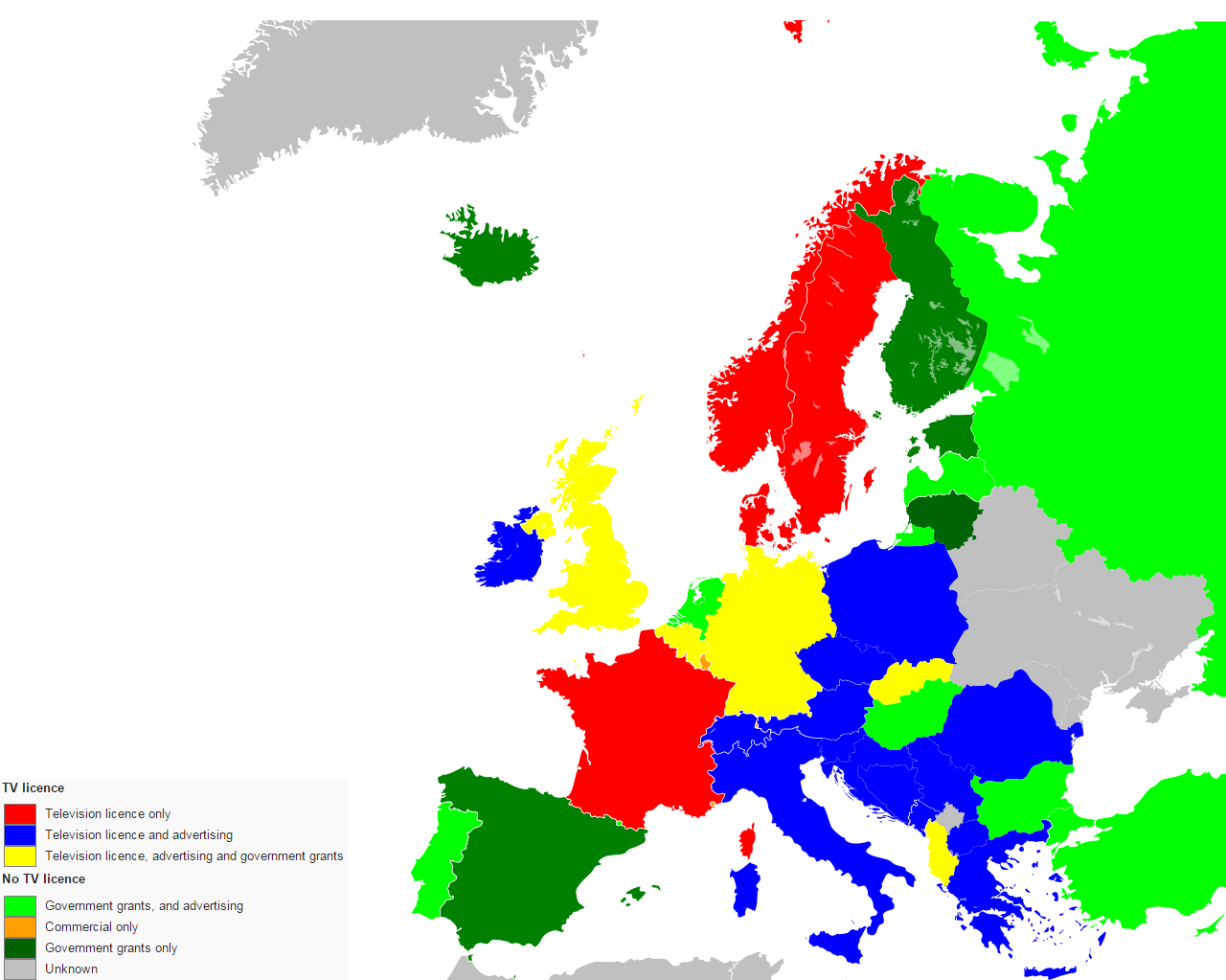 Funding mechanisms for public television in Europe