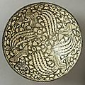 Bowl with Four Phoenixes. Iran, <b>Sultanabad</b>, 14th century