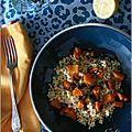 Salade tiède de courge rôtie aux épices & au boulgour