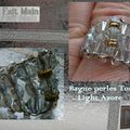 Bague perles Toupies Light Azore