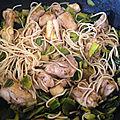 poulet sauté aux verts de <b>poireaux</b>