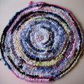 tapis en chutes de tissus