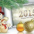 Je vous souhaite une très belle année à toutes !
