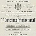 Fêtes des 2 au 4 juillet 1920 à <b>Belfort</b>, le vendredi 2 juillet (4e partie)